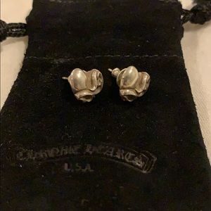 CHROME HEARTS - Heart Stud Earrings (Pair)